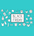 black friday sale banner background with thin line vector image