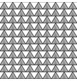 black triangle aztec seamless on white background vector image