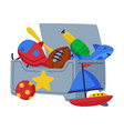 box toys for boys cute colorful objects vector image vector image