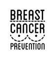Breast Cancer Awareness logo ribbon and vector image vector image