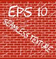 brick wall grunge seamless texture vector image