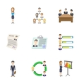 Businessman icons set cartoon style vector image vector image