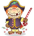 captain candy cartoon character vector image vector image