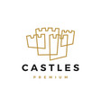 castle fort logo icon vector image