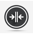 Close the door sign icon Control in the elevator vector image vector image