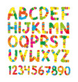color pencil font hand drawn letters vector image