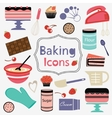 Colorful collection of baking items vector image vector image