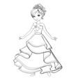 Coloring Book Of Beauty Princess vector image vector image
