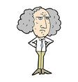 comic cartoon big hair lecturer man vector image vector image