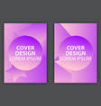 cover design poster with a minimalist design vector image vector image