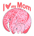 cute funny baelephant mothers day holiday vector image