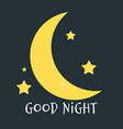 cute little moon on the night sky good night vector image