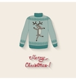 cute sweater with Christmas deer vector image vector image