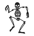 dancing skeleton icon simple style vector image vector image