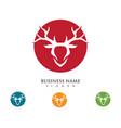 deer logo template vector image vector image