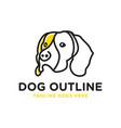 dog head outline logo vector image