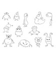 drawing set funny cute halloween vector image