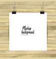 empty paper sheet square format paper vector image