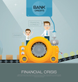 financial advisor and bank vector image vector image