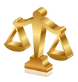 gold justice scales 3d vector image
