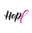 hope pink ribbon vector image