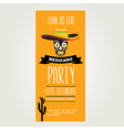 Invitation Mexican partyTypography vector image vector image