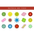 isolated set flat icons microscopic vector image