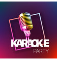 karaoke party banner layout card template vector image