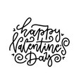 lettering for greeting card with handwritten line vector image vector image