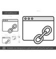 Link building line icon vector image vector image