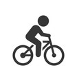 man on bicycle icon vector image vector image