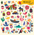 mexico collection vector image