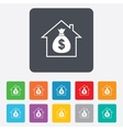 Mortgage sign icon Real estate symbol vector image