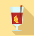 mulled wine icon flat style vector image vector image
