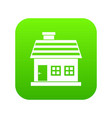 one-storey house icon digital green vector image vector image