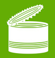 open tin can icon green vector image vector image