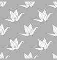 origami cranes pattern vector image