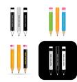 pencils icons vector image