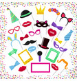 photo booth mask glasses costume hat on vector image