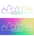 phuket city skyline colorful linear style vector image vector image