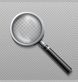 realistic loupe magnifying glass vector image vector image
