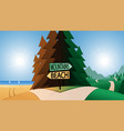 road junction and beach or mountains direction vector image vector image