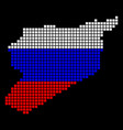 russia colors dot siria map vector image vector image