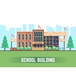 School building flat education concept vector image vector image
