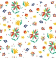 Seamless summer floral background Isolated vector image vector image