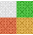 set - decorative seamless patterns vector image vector image