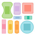 set of colorful medical plasters band aid vector image