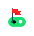 simple green golf course icon vector image