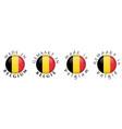 simple made in belgium gemaakt in belgie dutch vector image vector image