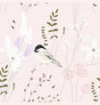spring garden seamless pattern with hand drawn vector image